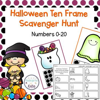 Halloween Ten Frame Scavenger Hunt