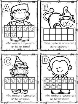 Halloween Ten Frame Task Cards / Roam the Room (0-10)