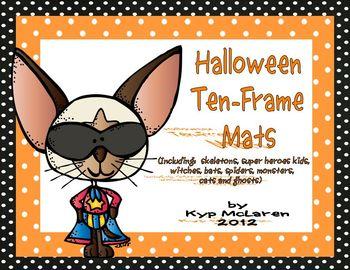 Halloween Ten-Frame Work Mats