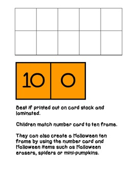 Halloween Ten Frames 0-10