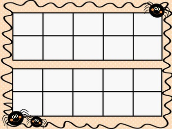 Halloween Ten Frames - 10 QUICK Prep Pages!