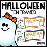 Halloween Ten Frames using Mini Erasers