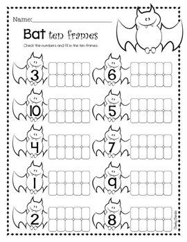 Halloween Activities - Ten Frames