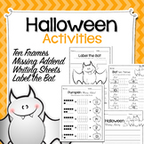 Halloween Activities - Ten Frames / Missing Addend / Writi