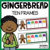 Gingerbread Ten Frames using Mini Erasers