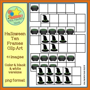 Ten Frames Clip Art - Halloween