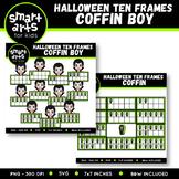 Halloween Ten Frames Clipart