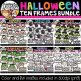 Halloween Ten Frames Clipart Bundle {Halloween Clipart}