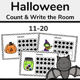 Halloween Ten Frames, Count the Room 11-20 Math Activity