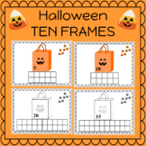 Halloween Ten Frames Counting with Candy Corn Counting 0-20