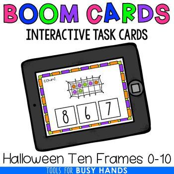 Halloween Ten Frames Interactive Digital Task Cards (Boom! Deck)