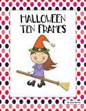 Halloween Ten Frames - Kindergarten and First Grade Math