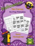 Halloween Ten Frames No Prep Printables Practice Packet Qu