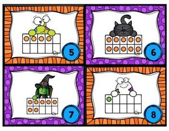 Halloween Ten Frames - Write the Room