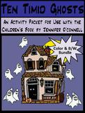 Halloween Activities: Ten Timid Ghosts Activity Bundle - Color + B/W