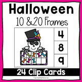 Halloween Ten and Twenty Frame Clip Cards