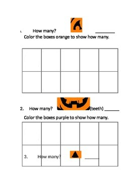 Halloween Tens Frame Leveled Centers