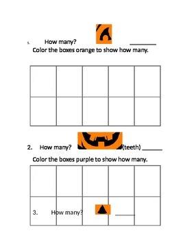 Halloween Tens Frame Leveled Centers