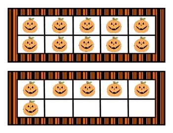 Halloween Tens Frames Match-Up