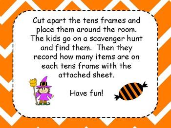 Halloween Tens Frames Write the Room