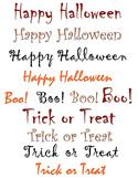 Halloween Text Clipart