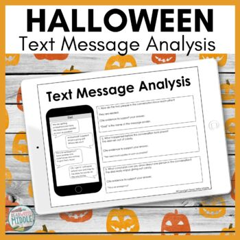 Halloween Text Message Analysis Inferencing and Citing Evidence