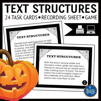 Halloween Text Structures Task Cards