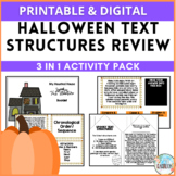 Halloween Text Structures Review