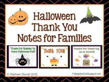 Halloween Thank You Notes