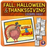 Halloween & Thanksgiving Coloring Pages
