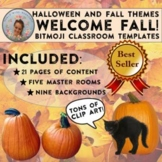 Halloween, Thanksgiving, & Fall Bitmoji Classroom Templates