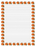 Halloween, Thanksgiving Fall Themed Writing Paper (with and without lines)