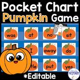 Halloween & Thanksgiving Sight Words:  Pocket Chart Game