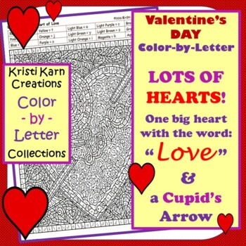 Halloween, Thanksgiving, & Valentine's Day Color-by-Letter Picture Puzzles