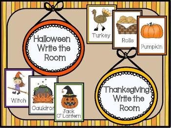 Halloween & Thanksgiving Write the Room