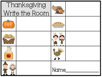 Halloween & Thanksgiving Write the Room