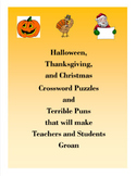 Halloween, Thanksgiving, and Christmas Crossword Puzzles