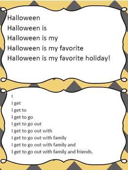 Halloween, Thanksgiving, and Christmas Themed Fluency Pyramids