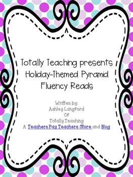 Halloween, Thanksgiving, and Christmas Themed Fluency Pyramids