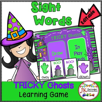 Sight Word TRICKY Ghosts Game - Halloween Theme! {EDITABLE}