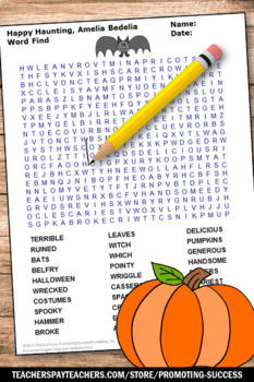 Happy Haunting Amelia Bedelia Halloween Book Activities & Reading Worksheets