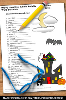 Happy Haunting Amelia Bedelia Guided Reading Book Halloween Literacy Centers
