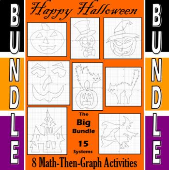 Halloween - The Big Bundle - 8 Math-Then-Graph Activities
