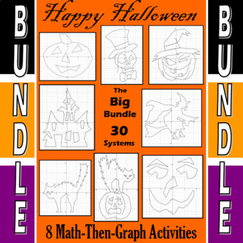 Halloween - The Big Bundle - 8 Math-Then-Graph Activities