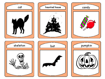 Halloween - ESL Halloween Vocabulary Card Games