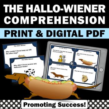 Halloween Book Companion, The Hallo-Wiener, Halloween Literacy Activities