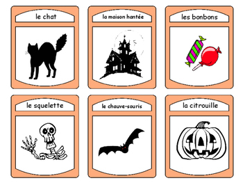 Halloween -The Halloween Vocabulary in French Card Games