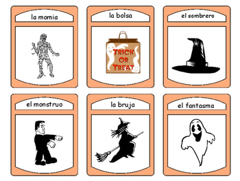 Halloween -The Halloween Vocabulary in Spanish Card Games