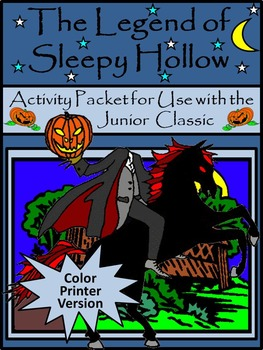 Halloween Activities: The Legend of Sleepy Hollow Activity Packet -Color Version