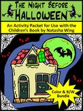 Halloween Activities: Night Before Halloween Activity Packet Bundle - Color & BW
